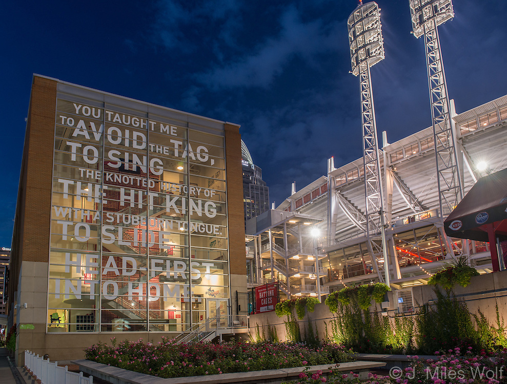 Cincinnati Reds Artworks Poem Mural