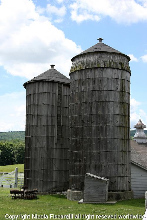 Storage silo at Shaker Village in Hancock Massachusetts.