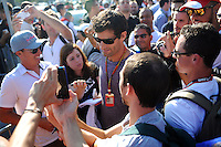 Mark Webber (AUS) with fans.<br /> Italian Grand Prix, Saturday 6th September 2014. Monza Italy.