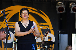 Mahinarangi Tocker performs at WOMAD Taranaki, on Sunday 13 March 2005.  Her band consist of Shona Laing, James Wilkinson, David Downes, Anahera Higgins, Denny Stanway and Jimmy Young.
