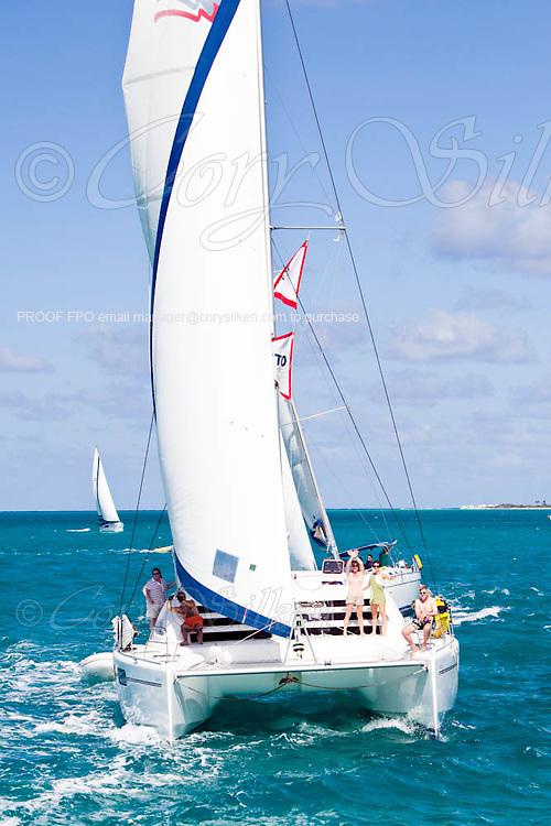 "Otter sailing from Anegada to Cooper Island during the Manhattan Sailing Club ""De Caribbean Regatta"" cruise."