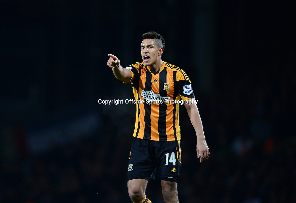 26 March 2014 - Barclays Premier League - West Ham United v Hull City - Jake Livermore of Hull City shouts - Photo: Marc Atkins / Offside.