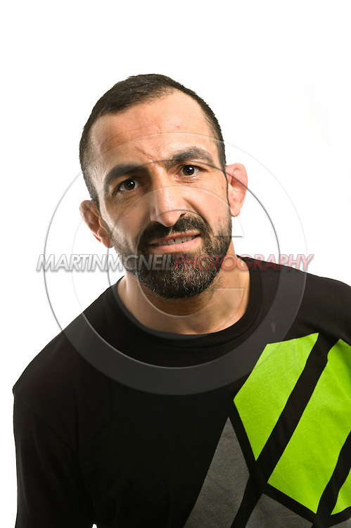 A portrait of lightweight mixed martial arts athlete Reza Madadi