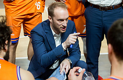 Dejan Jakara, head coach of Helios Suns during basketball match between KK Petrol Olimpija and KK Helios Suns in Round #9 of Liga Nova KBM 2018/19, on December 14, 2018 in Arena Tivoli, Ljubljana, Slovenia. Photo by Vid Ponikvar / Sportida