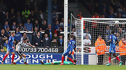 Ian Henderson of Rochdale scores his sides only goal of the game - Mandatory by-line: Joe Dent/JMP - 14/04/2018 - FOOTBALL - ABAX Stadium - Peterborough, England - Peterborough United v Rochdale - Sky Bet League One