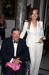 The HON.MARK & MRS VESTEY at the annual Ascot charity auction dinner this year in aid of The Princes Trust held at the Hyatt Churchill Hotel, Portman Square, London on 21st September 2004.<br /><br />NON EXCLUSIVE - WORLD RIGHTS