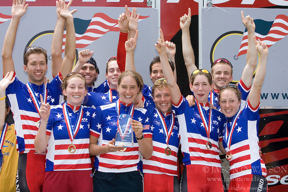 The 2007 USA Cycling Collegiate Road Championship criterium was held in downtown Lawrence, Kansas on May 13, 2007. The Stanford University Cycling Team won the 2007 USA Cycling Collegiate Division I team title.