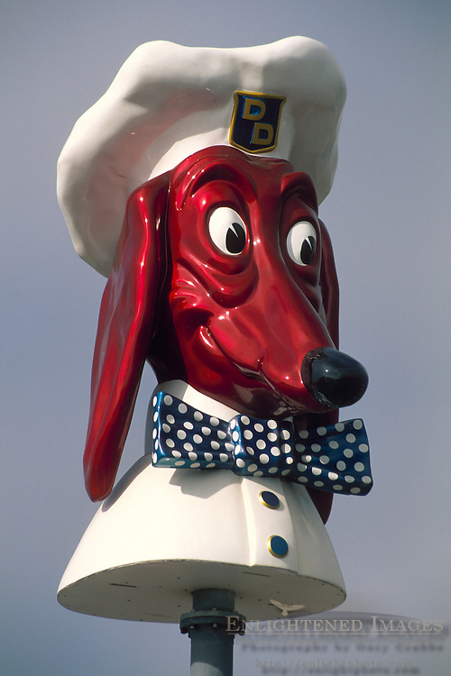 """The Famous """"Doggie Diner"""" head in San Francisco, California"""