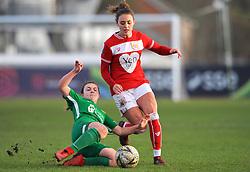 Annie Heatherson of Yeovil Town Ladies tackles Ella Rutherford of Bristol City- Mandatory by-line: Nizaam Jones/JMP - 27/01/2019 - FOOTBALL - Stoke Gifford Stadium - Bristol, England - Bristol City Women v Yeovil Town Ladies- FA Women's Super League 1