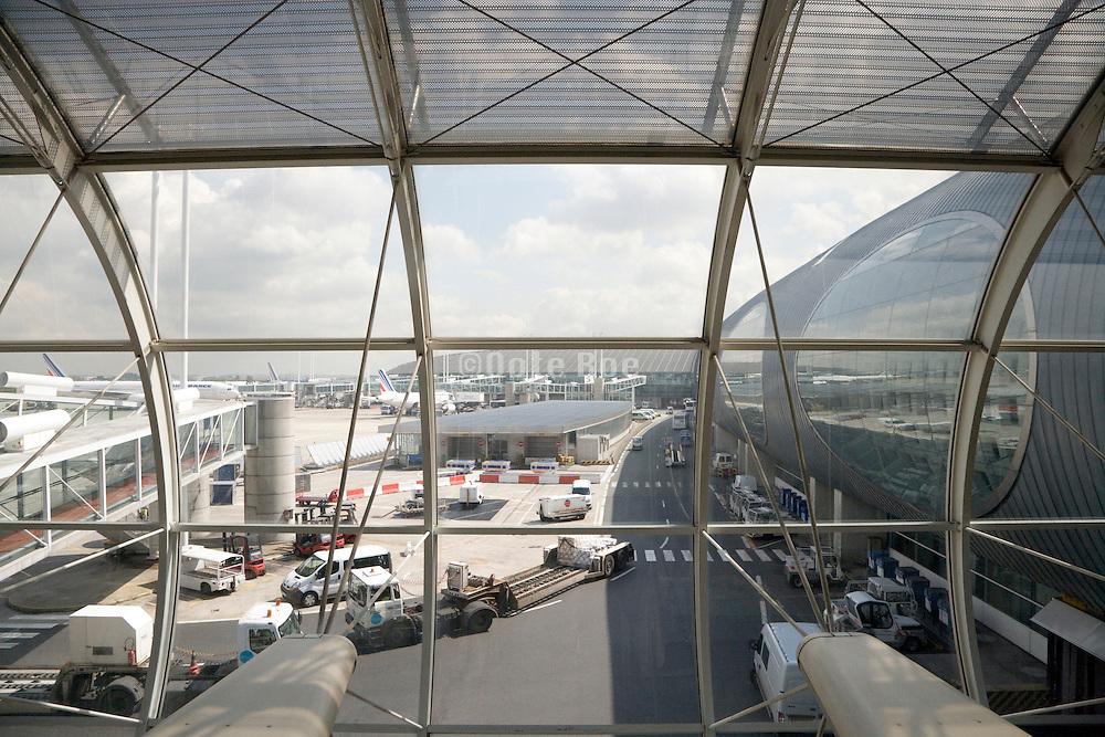 exterior view of Charles de Gaulle airport Paris