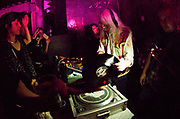 Dancing at DJ Gordie's 71st birthday party, Hackney Wick, London 2017