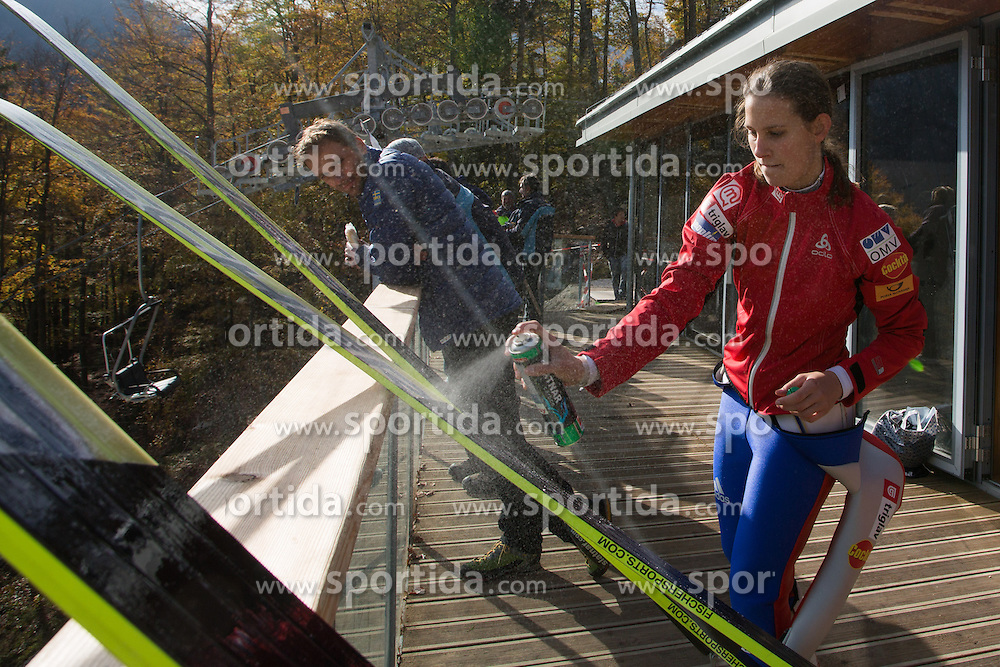 Eve Logar during Slovenian summer national championship and opening of the reconstructed Bloudek's hill in Planica on October 14, 2012 in Planica, Ratece, Slovenia. (Photo by Matic Klansek Velej / Sportida)