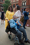 LADY NAIPAUL; V.S. NAIPAUL; ZOHRA DURRANI, V & A Summer party. South Kensington. London. 22 June 2016