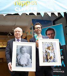 Nipper Clipper Launch<br /> (LtoR) Lord Alan Sugar with Apprentice (UK) winner Tom Pellereau  as they launch their latest product - the Nipper Clipper - in Neal's Yard, Covent Garden, London, Great Britain <br /> Tuesday, 18th June 2013<br /> Picture by Elliot Franks / i-Images