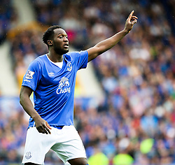 Everton's Romelu Lukaku  - Mandatory byline: Matt McNulty/JMP - 07966386802 - 23/08/2015 - FOOTBALL - Goodison Park -Everton,England - Everton v Manchester City - Barclays Premier League