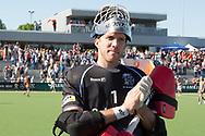 Eindhoven - Oranje Rood - Kampong  Heren, Hoofdklasse Hockey Heren, Seizoen 2017-2018, 05-05-2018, Halve Finale Playoffs, Oranje Rood - Kampong 1-1, Kampong wns, keeper David Harte (Kampong)<br /> <br /> (c) Willem Vernes Fotografie