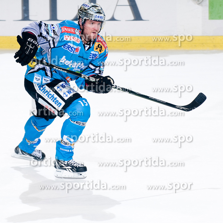 Eric Healey (EHC Liwest Black Wings Linz, #15) during ice-hockey match between HDD Tilia Olimpija and EHC Liwest Black Wings Linz in 19th Round of EBEL league, on November 7, 2010 at Hala Tivoli, Ljubljana, Slovenia. (Photo By Matic Klansek Velej / Sportida.com)