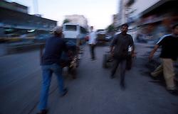 TURKEY DIYARBAKIR JUL02 - Cart-pullers crowd the evening streets in Diyarbakir, the unofficial Kurdish capital on Turkish territory...jre/Photo by Jiri Rezac..© Jiri Rezac 2002..Contact: +44 (0) 7050 110 417.Mobile:  +44 (0) 7801 337 683.Office:  +44 (0) 20 8968 9635..Email:   jiri@jirirezac.com.Web:     www.jirirezac.com