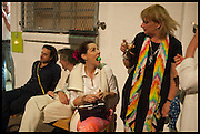 CHARLOTTE PHILLIPS; LOUISA BUCK, Matt's Gallery 35th birthday fundraising supper.  42-44 Copperfield Road, London E3 4RR. 12 June 2014.