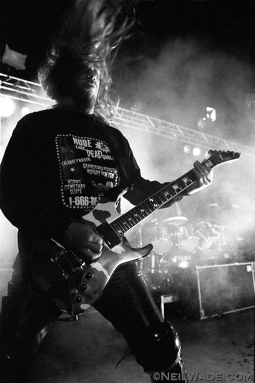 "Slayer plays a concert in Bam Margera's backyard while filming an episode of MTV's ""Viva La Bam."""