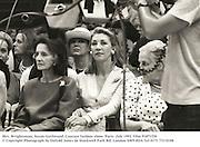 Mrs. Wrightsman, Susan Gutfreund. Couture fashion show. Paris. July 1991. Film 91871f30<br />© Copyright Photograph by Dafydd Jones<br />66 Stockwell Park Rd. London SW9 0DA<br />Tel 0171 733 0108