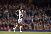 Juan Cuadrado of Juventus abandons the pitch after he is shown the red card during the UEFA Champions League Final match between Real Madrid and Juventus at the National Stadium of Wales, Cardiff, Wales on 3 June 2017. Photo by Giuseppe Maffia.<br /> <br /> Giuseppe Maffia/UK Sports Pics Ltd/Alterphotos