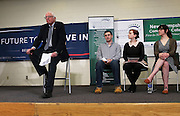 Presidential candidate Bernie Sanders meets with students at Nashua Community College