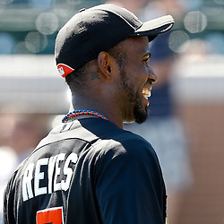 March 26, 2012; Lakeland, FL, USA; Miami Marlins shortstop Jose Reyes (7) before a spring training game against the Detroit Tigers at Joker Marchant Stadium. Mandatory Credit: Derick E. Hingle-US PRESSWIRE
