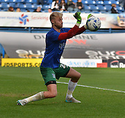 Bury Goalkeeper Robert Lainton during the warm up before  the Sky Bet League 1 match between Bury and Rochdale at Gigg Lane, Bury, England on 17 October 2015. Photo by Mark Pollitt.