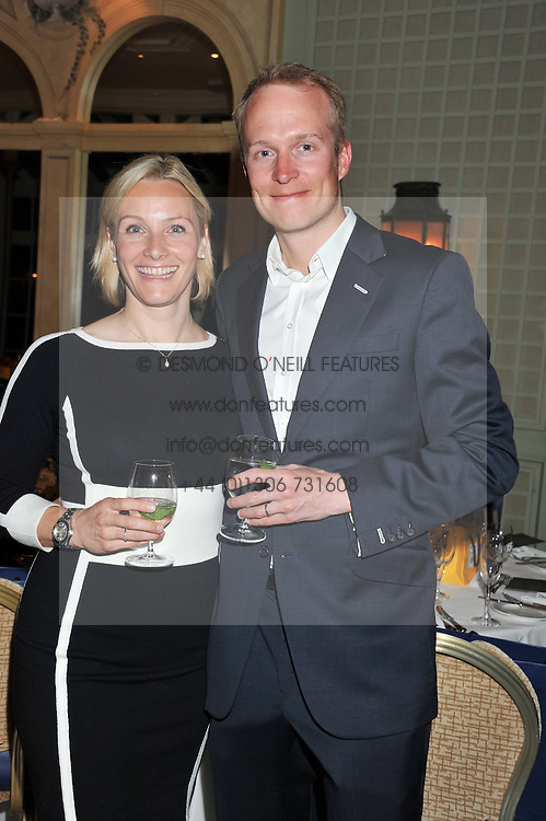 VICKI BUTLER-HENDERSON and her husband PHIL CHURCHWARD at a VIP dinner hosted by Maserati following the unveiling of the new Maserati 'Quattroporte' at The Hurlingham Club, London on 17th April 2013.
