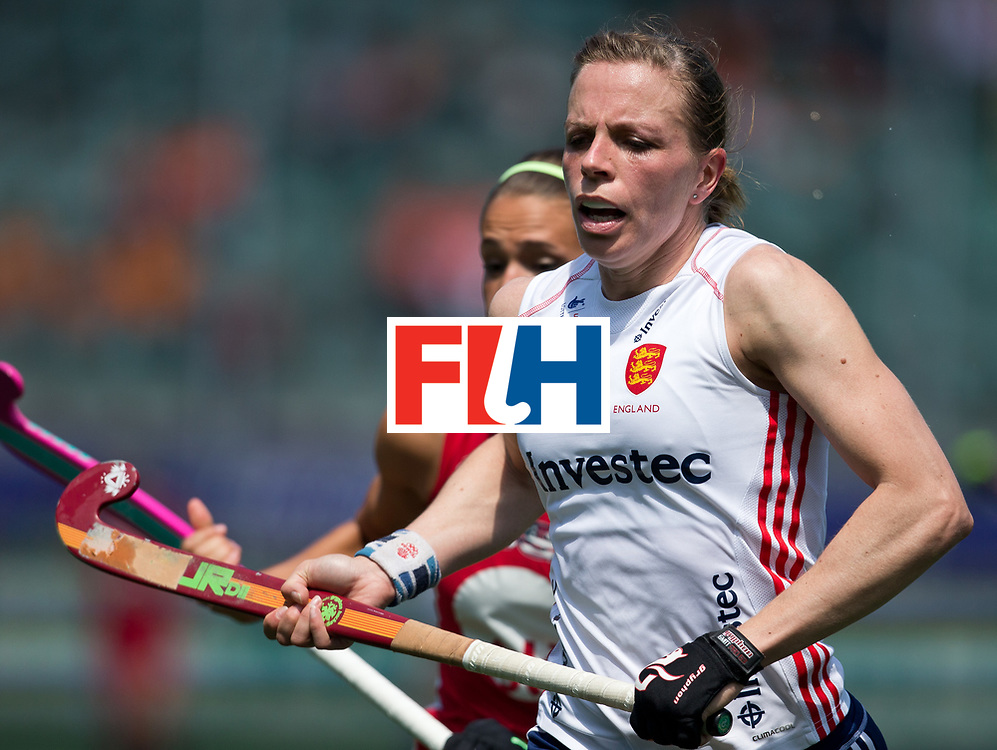 Hockey World Cup 2014<br /> The Hague, Netherlands <br /> Day 2 Women England v USA<br /> Kate Walsh-Richardson<br /> Photo: Grant Treeby<br /> www.treebyimages.com.au