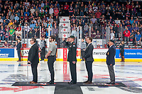REGINA, SK - MAY 20: Opening ceremonies at the Brandt Centre on May 20, 2018 in Regina, Canada. (Photo by Marissa Baecker/CHL Images)