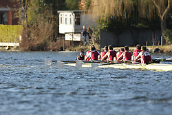 2012.02.25 Reading University Head 2012. The River Thames. Division 2. Marlow Rowing Club MasC 8+