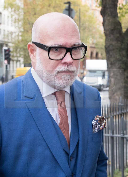 © Licensed to London News Pictures. 14/11/2017. London, UK. GARY GOLDSMITH, an uncle of the Duchess of Cambridge, arrives at Westminster Magistrates Court.  The younger brother of Kate Middleton's mother allegedly punched his wife, Julie-Ann Goldsmith, during a late night argument outside their west London home, following a night out. Police were reportedly called to the address by a taxi driver who dropped the couple off. Photo credit: Peter Macdiarmid/LNP