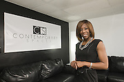 Event Specialist Ashauna L. Higgins shows her property at 2240 Taylorsville Road, Suite 102, called Contemporary Spaces, which is available for rent...Photographed Tuesday, Jan. 15, 2012 in Louisville, Ky. (Photo by Brian Bohannon)