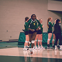 4th year outside hitter, Diana Lumbala (9) of the Regina Cougars during the Women's Volleyball home game on Sat Jan 26 at Centre for Kinesiology, Health & Sport. Credit: Arthur Ward/Arthur Images