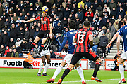 Dan Gosling (4) of AFC Bournemouth heads the ball towards the 6 yard box during the Premier League match between Bournemouth and West Bromwich Albion at the Vitality Stadium, Bournemouth, England on 17 March 2018. Picture by Graham Hunt.