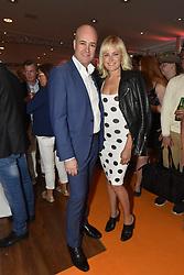 July 2, 2017 - Malin Akerman with former Swedish prime minister Fredrik Reinfeldt in Visby, Sweden 2017-07-02..(c) Anette Persson Lindfors / IBL Bildbyrà (Credit Image: © Aftonbladet/IBL via ZUMA Wire)