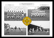 A collage of images from the 1962 All Ireland Football Final between Kerry and Roscommon, played at Croke Park on 24th September 1962.