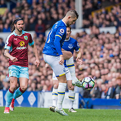 Everton forward Kevin Mirallas (11) on the ball in the Premier League match between Everton and Burnley<br /> (c) John Baguley | SportPix.org.uk