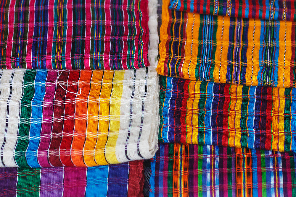 Scarves for sale in the markets of Chichicastango, Guatemala