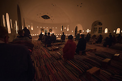 14 December 2016, Cairo, Egypt: Evening prayers at the Anafora Church, part of the Anaphora Institute, a Coptic Orthodox retreat and educational centre located north-west of Cairo.