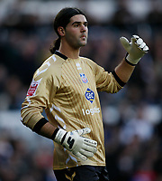 Photo: Steve Bond/Richard Lane Photography. Derby County v Crystal Palace. Coca Cola Championship. 06/12/2008. Palace keeper Julian Speroni after Derby controversially equalise