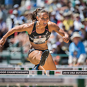 The 2014 USA Track and Field  Championships in Sacramento:  Lolo Jones in the semi-finals  women's 100 meter hurdles.