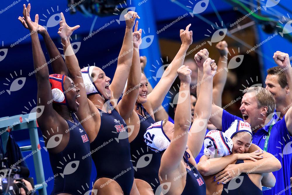 Celebration USA Gold Medal <br /> Rio de Janeiro 19-08-2016 Olympic Aquatics Stadium  - Water Polo <br /> USA - ITALY Final <br /> Foto Andrea Staccioli/Deepbluemedia/Insidefoto