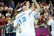 DESCRIZIONE : Handball Jeux Olympiques Londres Quart de Finale<br /> GIOCATORE : Karabatic Nikola Fernandez Jerome FRA<br /> SQUADRA : France Homme<br /> EVENTO : FRANCE Handball Jeux Olympiques<br /> GARA : France Espagne<br /> DATA : 08 08 2012<br /> CATEGORIA : handball Jeux Olympiques<br /> SPORT : HANDBALL<br /> AUTORE : JF Molliere <br /> Galleria : France JEUX OLYMPIQUES 2012 Action<br /> Fotonotizia : France Handball Homme Jeux Olympiques Londres Quart de Finale Basketball Arena<br /> Predefinita :