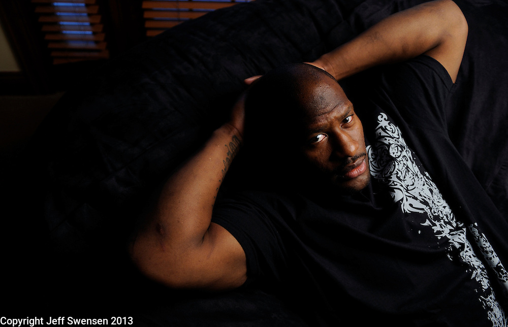 PITTSBURGH-December 18: James Harrison, at his home outside Pittsburgh, is having another Pro Bowl year.