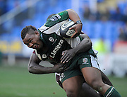 Reading, GREAT BRITAIN, Exiles, Steffon ARMITAGE attacking run is stopped by Tigers Ayoola ERINLE, during the Guinness Premiership match, London Irish vs Leicester Tigers, played at the Madejski Stadium, on Sun. 17th Feb 2008.  [Mandatory Credit, Peter Spurrier/Intersport-images].....Watford, GREAT BRITAIN, during the Pool 4 Rd 5  Heineken Cup game Saracens vs Biarittz at Vicarage Road, Hert's  26/04/2007  [Photo, Peter Spurrier/Intersport-images].....