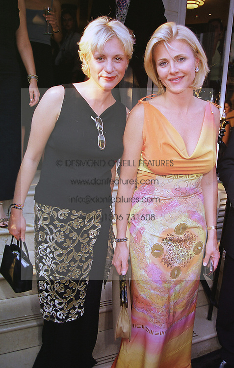 Left to right, PRINCESS ZITA VON PALLAVICINI and MRS NINA JUNOT, at a party in London on 16th June 1999.MTI 40