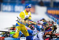 March 16, 2019 - –Stersund, Sweden - 190316 Jesper Nelin of Sweden competes in the Men's 4x7,5 km Relay during the IBU World Championships Biathlon on March 16, 2019 in Östersund..Photo: Petter Arvidson / BILDBYRÃ…N / kod PA / 92269 (Credit Image: © Petter Arvidson/Bildbyran via ZUMA Press)